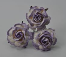 LIGHT LILAC HYBRID TEA ROSES Mulberry Paper Roses